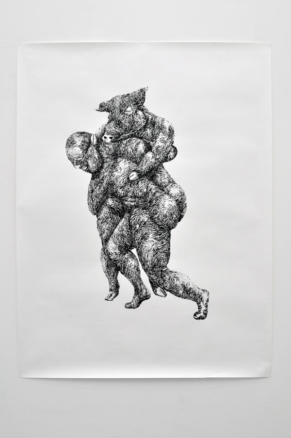 151x220cm / pinceau / encre de chine / photographie Julien Robiche
